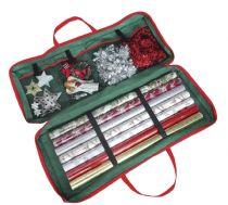 Xmas Christmas Gift Wrap Wrapping Paper Decoration Tidy Storage Bag Organiser